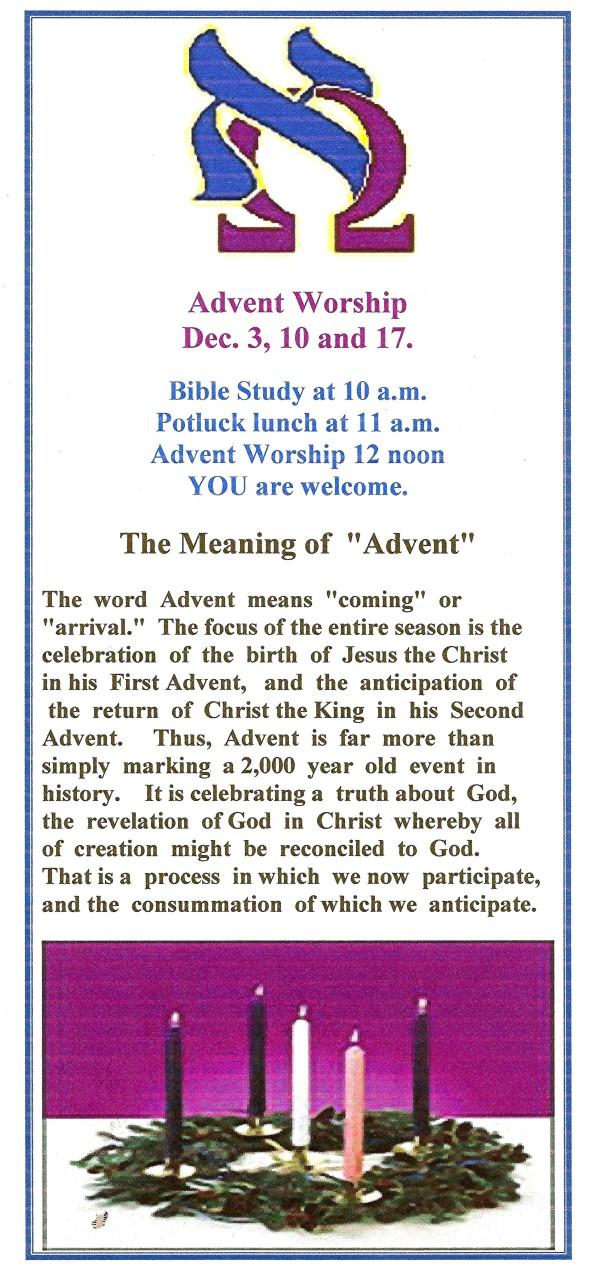 Advent Worship 001